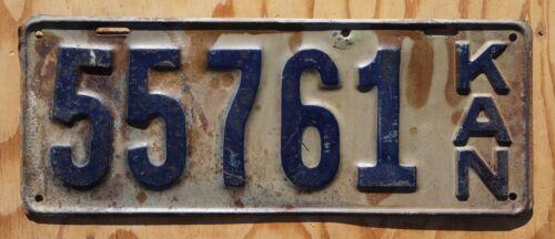 1919 Kansas Passenger License Plate