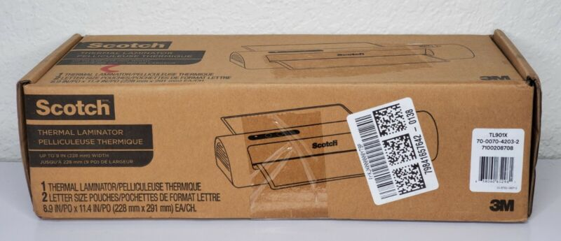 Scotch Thermal Laminator TL901X System 2 Heat Settings 3M Office Home New