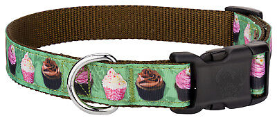 Country Brook Design® Deluxe Lime Cupcakes Ribbon Dog Collar