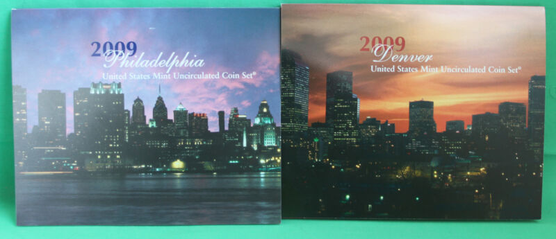 2009 P and D US Mint ANNUAL Uncirculated Coin Set 36 Coins Satin Finish LINCOLNS