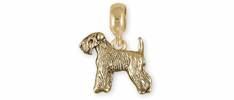 Soft Coated Wheaten Terrier Jewelry 14k Gold Handmade Wheaten Charm Slide This C
