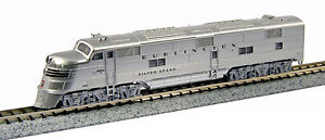 """Kato N EMD E5A CB&Q #9910A """"Silver Speed""""  KAT1765401"""