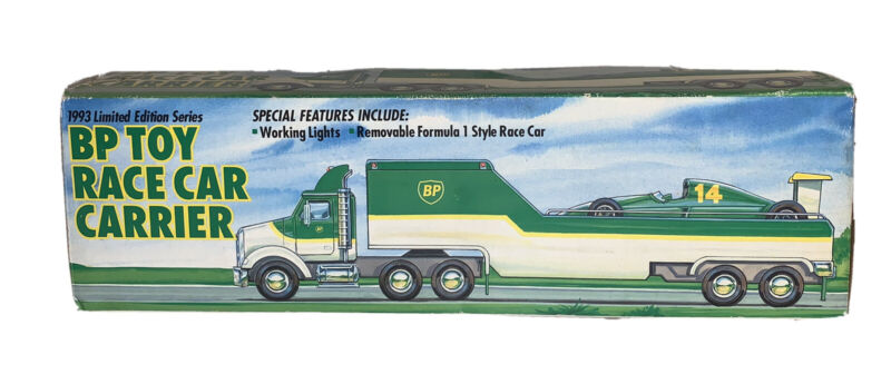 Vintage 1993 BP Toy Race Car Carrier Limited Edition Series