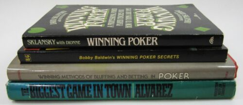 Vintage Poker Secrets Reference Books Tips Strategy 1st Editions Lot of (4)