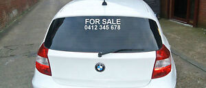 FOR SALE decal for car. With phone number. 40x13cm vinyl sticker in white only
