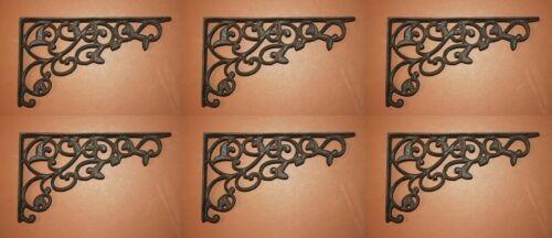 (6) 12 inch Cast Iron Corbels Vintage Replica Design, B-14