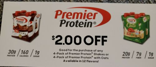 25 Premier Protein 2.00 Coupon Expires March 2022 - $15.00