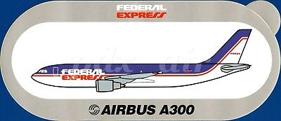 Ultra Rare Federal Express Delivery Services Airbus A300 Sticker