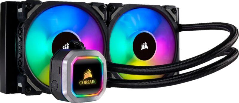 CORSAIR - Hydro Series H100i RGB Platinum 240mm Radiator CPU Liquid Cooling S...