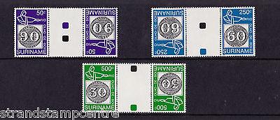 Surinam - 1993 Braziliana - U/M GUTTER PAIRS - SG 1563-5