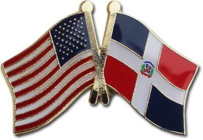 Pack of 50 USA American Dominican Republic Friendship Flag Hat Cap lapel Pin