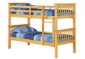 BRAND NEW - Single Top Single Bottom Extra Solid Wooden Bunk Bed+ 2 X Maatress , Same/Day/Drop