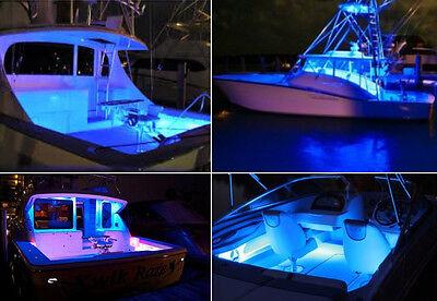 4X Ultra Blue Led Boat Light Deck Courtesy Bow Trailer Pontoon 12V Waterproof