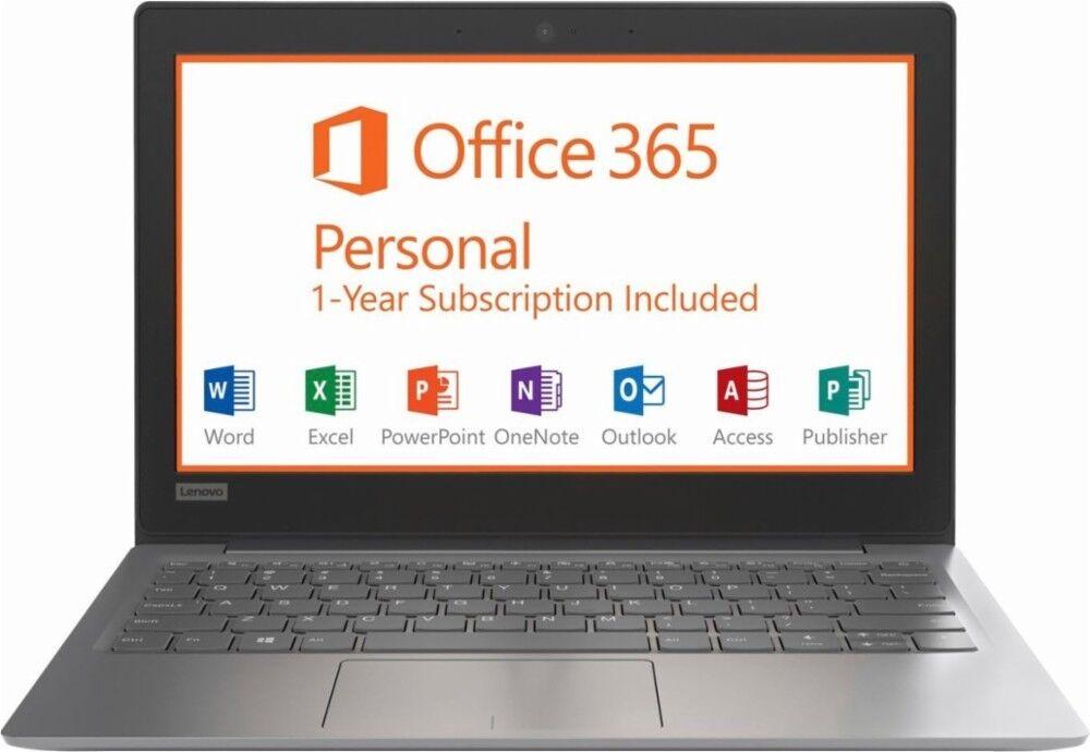 "Lenovo 81A40025US - IdeaPad 11.6"" N3350 Laptop - 2GB RAM - 32GB eMMC - Gray"