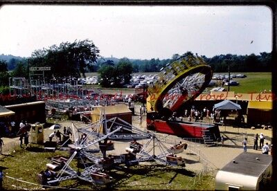 1962 OHIO? Birds Eye View of Carnival Zero Gravity Mad Mouse Roller Coaster s202