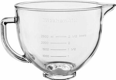 KitchenAid - 5-quart Glass Mixing Bowl - Transparent