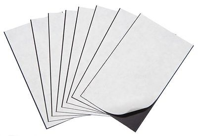 100 Self Adhesive Flexible Magnetic Sheets Wallet Size Usa 2 X 3- Free Ship