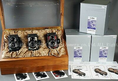 New Rollei/Rolleiflex red/white/black Platinum 2.8 FX Prototype TLR camera kit