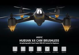 Hubsan x4 h501c brushless motor! drone 1080p HD camera GPS altitude hold one key return headlesm