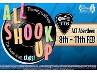 2 x All Shook Up Tickets Aberdeen Art Centre Saturday 11th February 2017