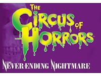 CIRCUS OF HORRORS TICKETS, BEACH BALLROOM, ABERDEEN (5 AVAILABLE)