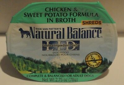 003 Adult Dog meal Natural Balance Sweet Potato chicken in broth, Fish & Chicks ()