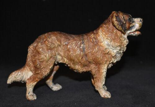 Vienna Bronze St. Bernard Dog Figurine