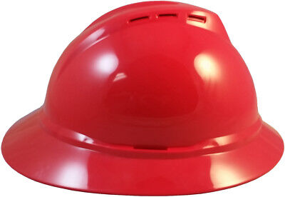 Msa Vented Full Brim Safety Hard Hats With 6 Point Ratchet Suspension 5 Colors