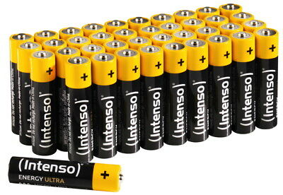 40 Intenso Energy Ultra AAA / Micro Alkaline Batterien im 40er Shrink Pack