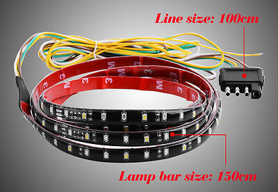 Pickup Truck Car RV Turn Signal Reverse Brake Tailgate Light LED Strip Bar - 60""