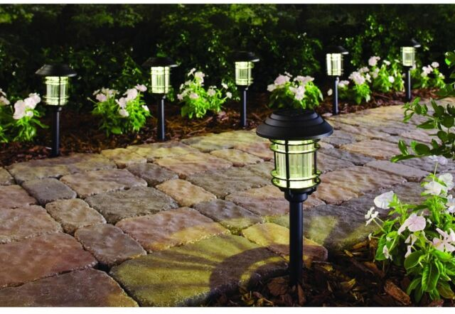 Solar Pathway Lights (6 Pack) Outdoor LED Garden Lawn Patio Yard Landscape  Light