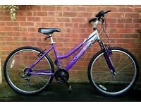 "Stealth Beachcomber ladies/girls bike,26""wheels,18 gears,front suspension"