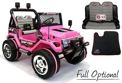 Usato, Auto Macchina Elettrica Jeep 12 V 2 Posti Per Bambini Pink Rosa usato  Masseria Cusmano