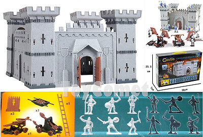 Castle Knights Catapult Medieval Toy Soldiers Figures & Accessories Box Set