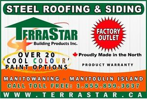 Steel Roofing & Siding Products - Proudly made in the North!