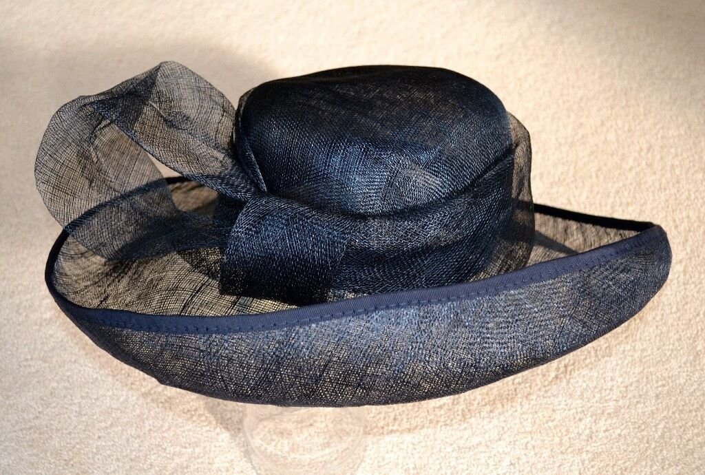 Navy Blue Wedding Hat Lightweight Large Loop Bow From Marks And Spencer