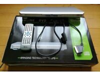 Tevion Vision Silver Slimline DVD Player: TSDVD1300 Boxed Remote Instructions Electrical Goods TV