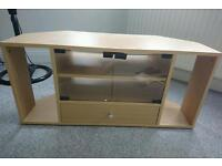 TV unit with glass doors