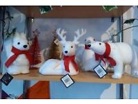 Christmas animals with scarves, deer, penguin, polar bear or squirrel
