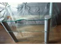 Glass TV stand for sale