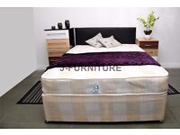 Brand New Double Divan Bed BASE With Semi Orthopedic Mattress Only £89 SAME DAY AVAILABLE