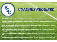 COACHES/VOLUNTEERS REQUIRED