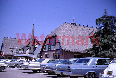 Birkholm Bakery Alisal Road Street Scene Solvang California 1967 35mm Slide