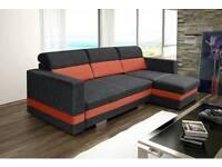 Modern corner sofa bed Rmini,sofa bed with storage,Amk sofa's,Double bed,Polskie Narożniki