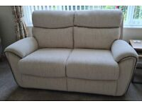 Two seat sofa and armchair