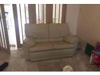 Leather cream sofa free