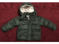 Zaraboys dark green hooded jacket for 2-3 year olds