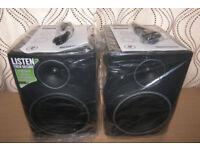 "Mackie MR8 MK3 8"" Full-Range Reference Active Powered DJ Studio Monitors , Speakers / Never Used !"