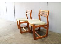 Set of 4 1960's mid century dining chairs by Portwood (4 available)