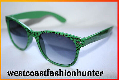 Retro Sonnenbrille grün Newspaper Scribble green Sunglasses Shades 41